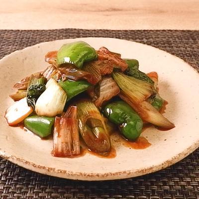 たっぷり野菜の赤味噌炒め煮