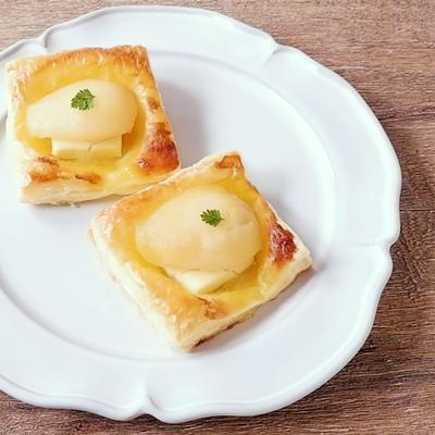 ラフランスのチーズデニッシュ風
