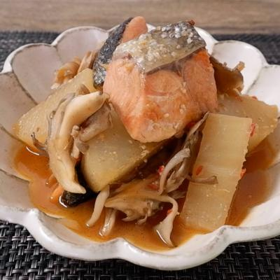 ガリバタ風味 ピリ辛な鮭大根
