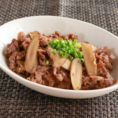 生姜でコトコト牛肉のしぐれ煮