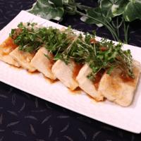 ダイエットに!豆腐ステーキ梅醤油ソース