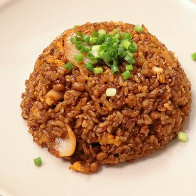 納豆とキムチのチャーハン