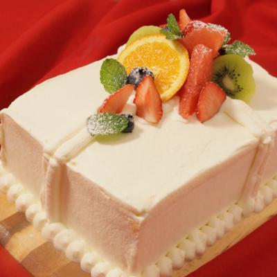 クリスマスに プレゼントボックスケーキ