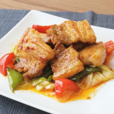 ガッツリ 厚切り豚バラ肉の回鍋肉