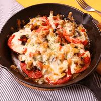 夏野菜たっぷり!トマトのチーズ焼き