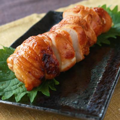 鶏むね肉の梅ねぎ巻