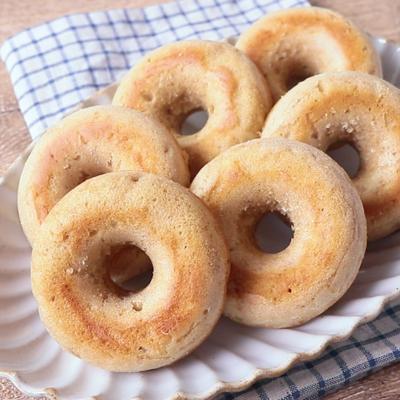 スパイスの効いた バナナ焼きドーナツ