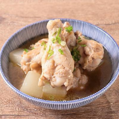 めんつゆで簡単 大根と手羽元の煮物