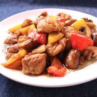 鶏もも肉とマッシュルームのバルサミコ炒め