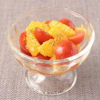 ミニトマトとオレンジのサラダ