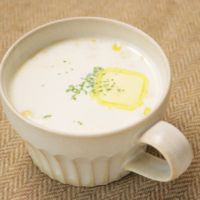 レンジで簡単 コーンミルクスープ