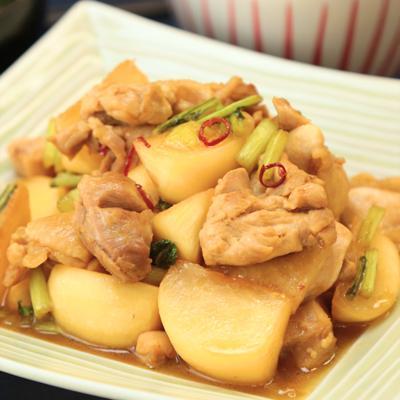 鶏もも肉とカブの南蛮酢炒め