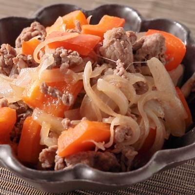 牛肉とパプリカの黒酢炒め