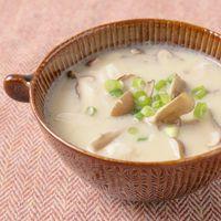 きのこたっぷり豆乳スープ