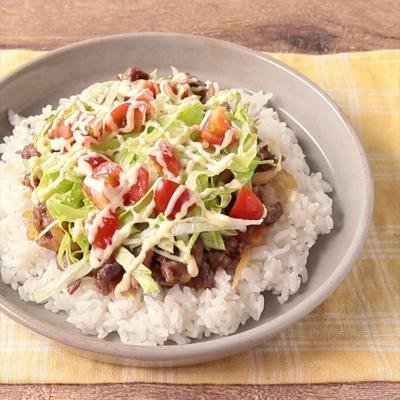 佐賀の味 甘辛牛肉炒めのシシリアンライス