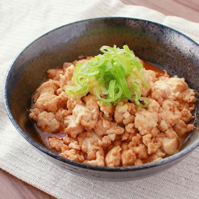 豆腐とひき肉のピリ辛煮
