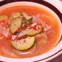 ズッキーニのミネストローネ風スープ