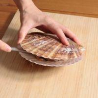 帆立貝の殻の開け方
