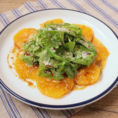 ガストリックドレッシングでオレンジのサラダ