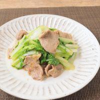 山東菜と豚肉のみそ炒め