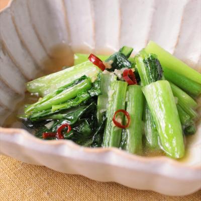 青菜のにんにくナンプラー炒め