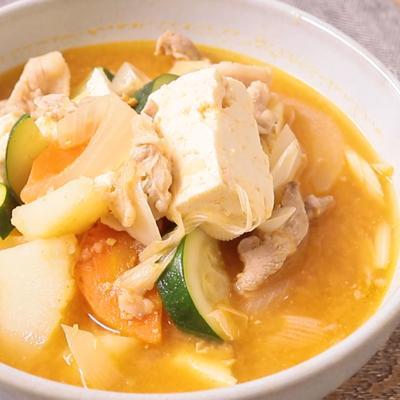 サムジャンで 韓国風スープ