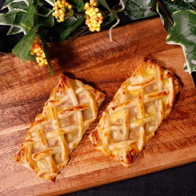バナナジャムと手作りカスタードのサクサクパイ