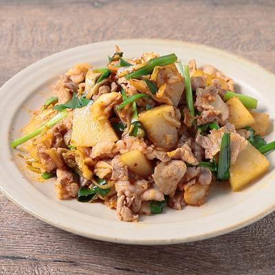 ピリ辛 冬瓜と豚肉のキムチ炒め