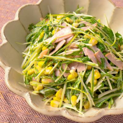 シャキシャキ水菜のコールスロー風サラダ
