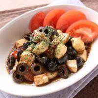 モッツァレラとオリーブの簡単前菜
