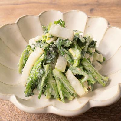 白菜と春菊の梅マヨサラダ