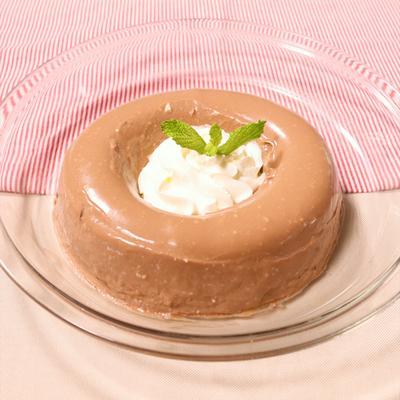 お豆腐でチョコレートババロア