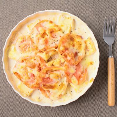 厚揚げとトマトのグラタン