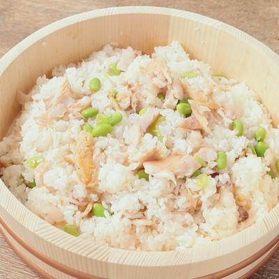 金目鯛の干物と新生姜の混ぜ寿司
