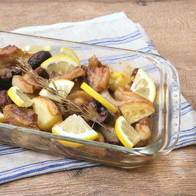 豚バラ肉とレモンのオーブン焼き