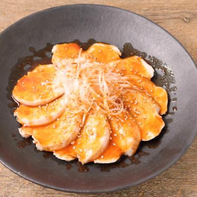 レンジで 蒸し鶏ヤンニョムチキン風