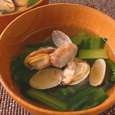 アサリと小松菜のすまし汁