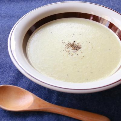 長ねぎの豆乳ポタージュスープ