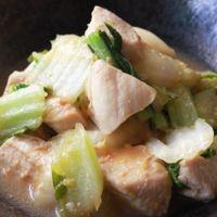 白菜と鶏むね肉の味噌炒め