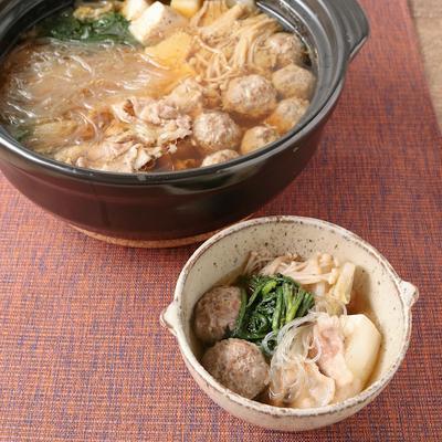 簡単肉団子で 中華風寄せ鍋