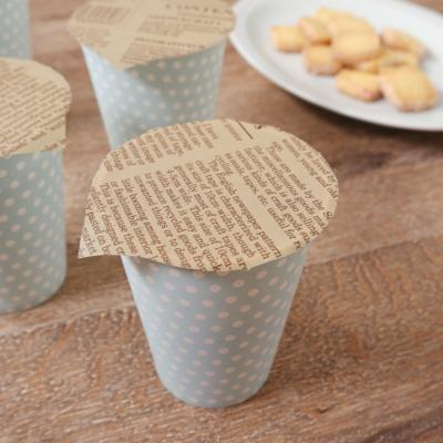 蓋つき紙コップのクッキーラッピング