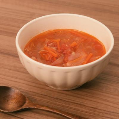 ツナとトマトの春雨スープ