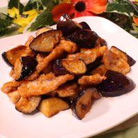 豚肉とナスのチリマヨ炒め