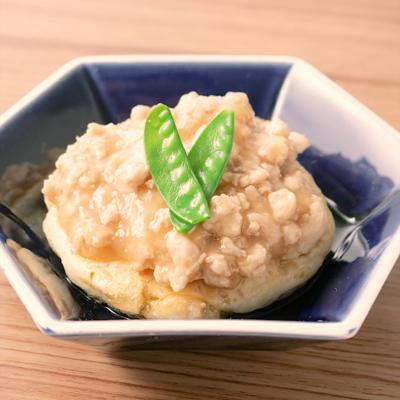 とろりと美味しい鶏そぼろあんかけ豆腐