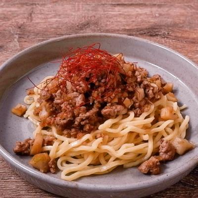 花椒そぼろのピリ辛和え麺