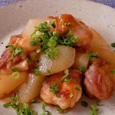 大根と鶏もも肉のゆず味噌炒め
