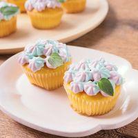 市販のプチマフィンで 紫陽花カップケーキ