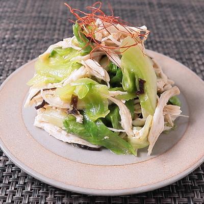 中華風 鶏むね肉とレタスの和え物