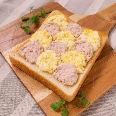 卵とツナのウェーブトースト