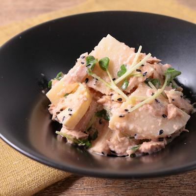 タケノコのシャキシャキ明太サラダ